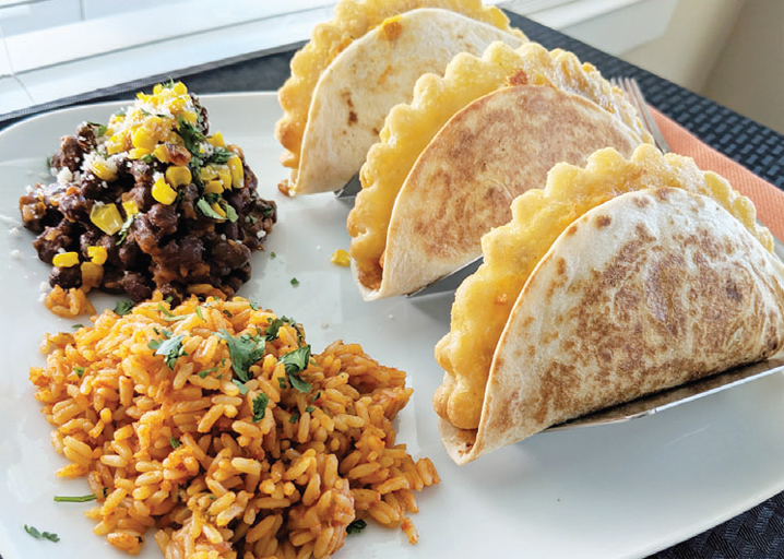 Pictured: Beef & Cheese Empanada Tacos