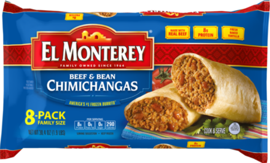 Beef & Bean Chimichangas - Family Pack