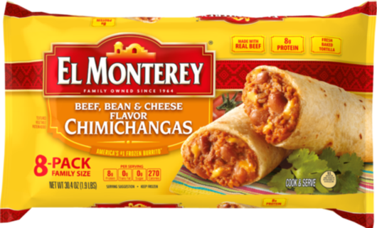 Beef, Bean & Cheese Flavor Chimichangas - Family Pack